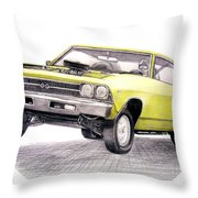 69 Chevelle Ss Throw Pillow