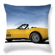 '69 Corvette Sting Ray Throw Pillow