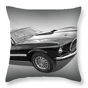 69 Mach1 In Black And White Throw Pillow