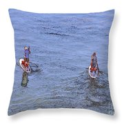 69- Paddle Boarders Throw Pillow