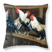 #69 - Roosters Throw Pillow