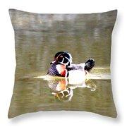 6966 - Wood Duck Throw Pillow