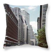 6th Avenue New York 1950 Throw Pillow