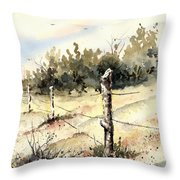 6th Grade Fence Throw Pillow
