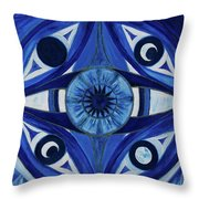 6th Mandala - Third Eye Chakra  Throw Pillow