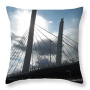 6th Street Bridge Backlit Throw Pillow
