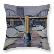 6th Street Bridge Throw Pillow
