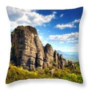 9 Landscape Throw Pillow