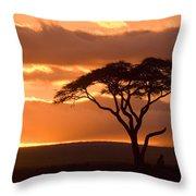 African Sunrise Throw Pillow