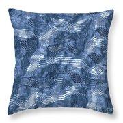 Alien Fluid Metal Throw Pillow