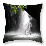 Australia - Peering Into Natural Arch Waterfall Throw Pillow