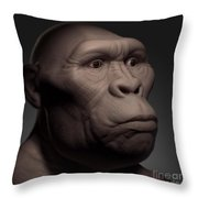 Australopithecus Throw Pillow