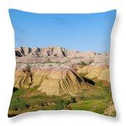 Badlands National Park South Dakota Throw Pillow