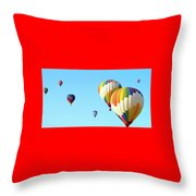 7 Balloons Throw Pillow