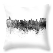 Bangkok Skyline In Watercolor Background Throw Pillow