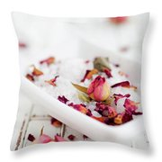 Bath Salt Throw Pillow