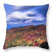 Beautiful Autumn Landscape In North Carolina Mountains Throw Pillow