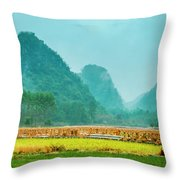 Beautiful Countryside Scenery In Autumn Throw Pillow