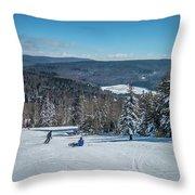 Beautiful Nature And Scenery Around Snowshoe Ski Resort In Cass  Throw Pillow