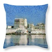 Bourtzi Fortress Throw Pillow