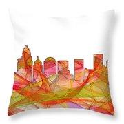 Charlotte Nc Skyline Skyline Throw Pillow