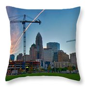 Charlotte North Carolina Early  Morning Sunrise Throw Pillow