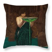 Circe Invidiosa  Throw Pillow