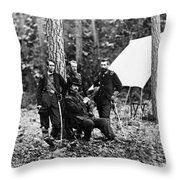 Civil War: Soldiers Throw Pillow