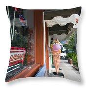 Cocoa Village In Florida Throw Pillow