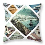 Collage Of Rio De Janeiro Throw Pillow