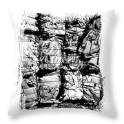 Compressed Pile Of Paper Products Throw Pillow
