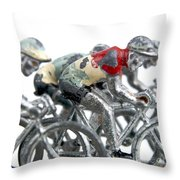 Cyclists Throw Pillow