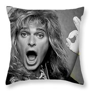 David Lee Roth Collection Throw Pillow