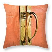 Door Handle Throw Pillow