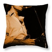 #7 Enhanced In Amber Throw Pillow