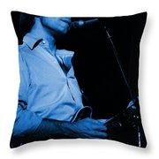#7 Enhanced In Blue Throw Pillow