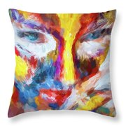 Face Paint Throw Pillow