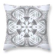 Fern Frost Mandala Throw Pillow