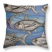 7 Fish Throw Pillow