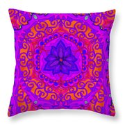 Indian Fabric Pattern Throw Pillow