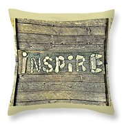 Inspiring Rock Art Throw Pillow