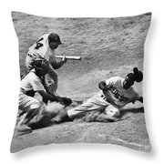 Jackie Robinson (1919-1972) Throw Pillow by Granger