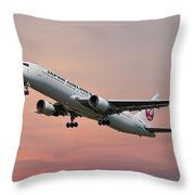 Japan Airlines Boeing 767-346 Throw Pillow