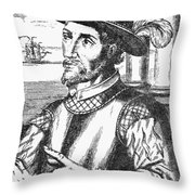 Juan Ponce De Leon Throw Pillow