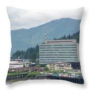 Juneau Alaska Usa Northern Town And Scenery Throw Pillow