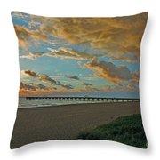 7- Juno Beach Pier Throw Pillow