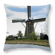 Kinderdijk Windmills Throw Pillow