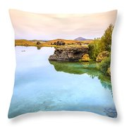 Lake Myvatn Throw Pillow
