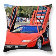 Lamborghini Countach Lp400 Throw Pillow