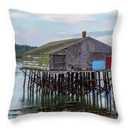 Lubec, Maine  Throw Pillow